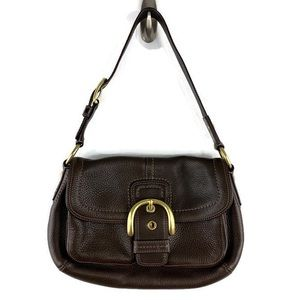 Coach Soho Legacy Pebble Leather Shoulder Bag